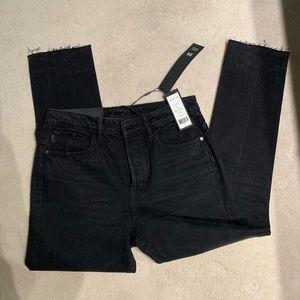 Helmut Lang high rise crop jeans
